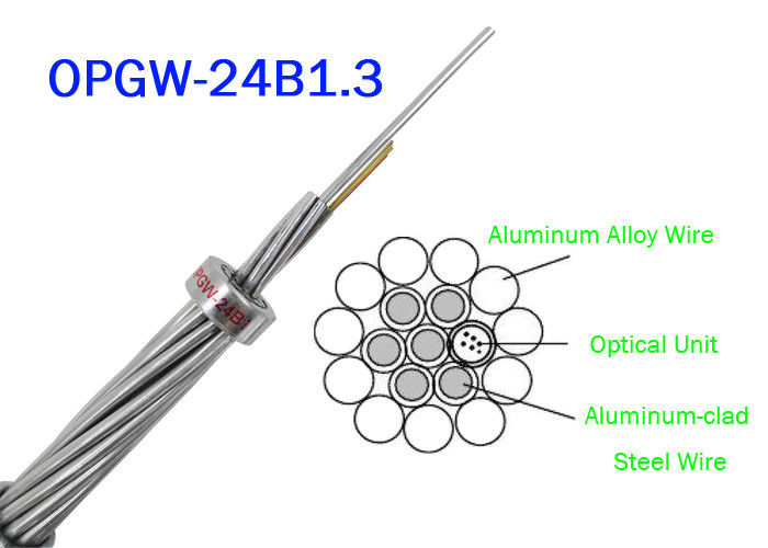 OPGW ADSS Fiber Optic Cable 24B1.3 Range 60 130 Power Telecommunication Outer material Metal wires